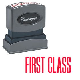 Red First Class Xstamper Stock Stamp
