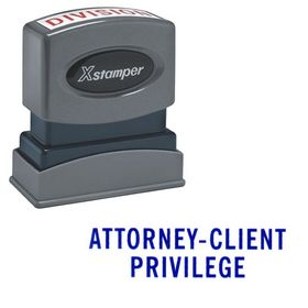 Attorney-Client Privilege Xstamper Stock Stamp