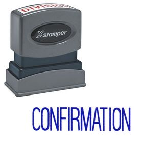 Confirmation Xstamper Stock Stamp