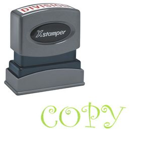 Green Copy Xstamper Stock Stamp