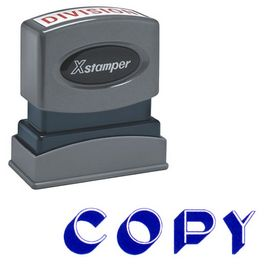 Bold Blue Copy Xstamper Stock Stamp