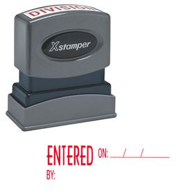 Entered On.By: Xstamper Stock Stamp