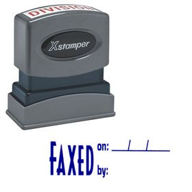 Faxed On: By: Xstamper Stock Stamp