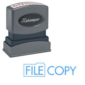 Blue File Copy Xstamper Stock Stamp