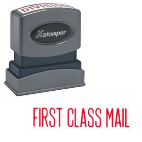 Red First Class Mail Xstamper Stock Stamp