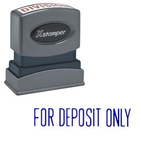 Blue For Deposit Only Xstamper Stock Stamp