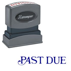 Past Due Xstamper Stock Stamp