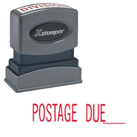 Postage Due Xstamper Stock Stamp
