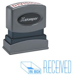 Blue Received Xstamper Stock Stamp
