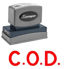 Bold Red C.O.D. Xstamper Stock Stamp