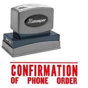Comfirmation Of Phone Order Xstamper Stock Stamp