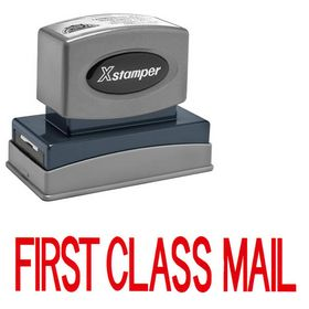 Large Red First Class Mail Xstamper Stock Stamp