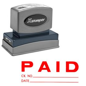 Paid Ck No.-Date Xstamper Stock Stamp