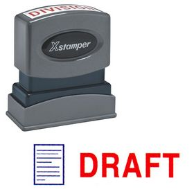 Two-color Draft Xstamper Stock Stamp