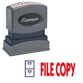 Two-color File Copy Xstamper Stock Stamp