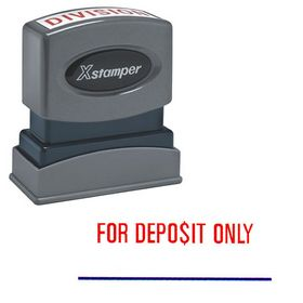 Red For Deposit Only Xstamper Stock Stamp