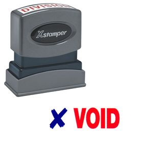 Two-color Void Xstamper Stock Stamp