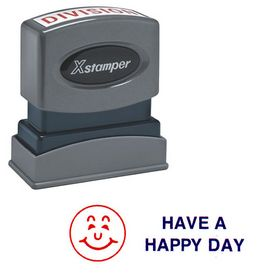 Have A Happy Day Xstamper Stock Stamp