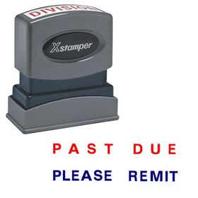 Two-color Past Due Please Remit Xstamper Stock Stamp