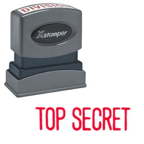 Top Secret Xstamper Stock Stamp
