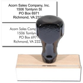 4 Line Address Stamp Regular Rubber Stamp
