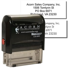 4 Line Self Inking Address Stamp
