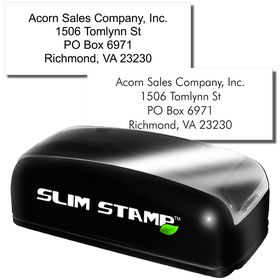 4 Line Slim Address Stamp