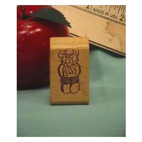 Cub Scout Bear Art Rubber Stamp