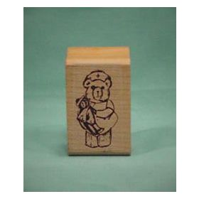 Bear Nurse Art Rubber Stamp