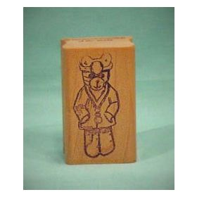 Bear Doctor Art Rubber Stamp