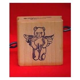 Bear Angel with Slingshot Craft Rubber Stamp