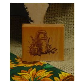 Milk Cans Art Rubber Stamp