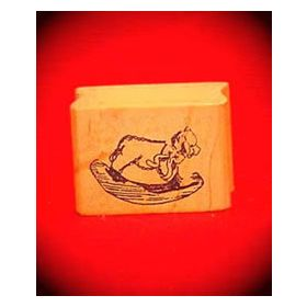 Rocking Sheep Art Rubber Stamp