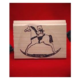 Rocking Bear Rubber Stamp