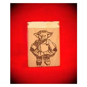 Ballet Pig Art Rubber Stamp