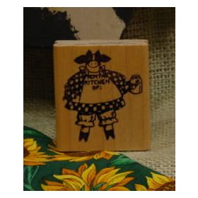 From the Kitchen Of Cow Art Rubber Stamp