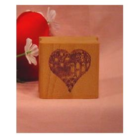 Country Patchwork Heart Art Rubber Stamp
