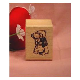 Dancing Bears Art Rubber Stamp
