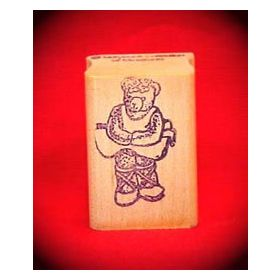 Ballet Bear Art Rubber Stamp