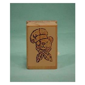 Bear Chef Art Rubber Stamp