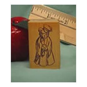 Bear Graduate Art Rubber Stamp