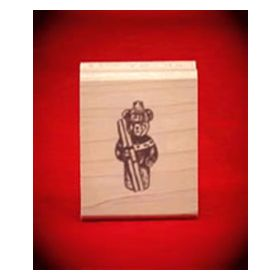 Ski Bear Art Rubber Stamp