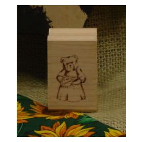 Country Bear Art Rubber Stamp