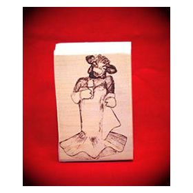 Singing Cow Art Rubber Stamp