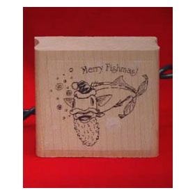 Merry Fishmas! Art Rubber Stamp