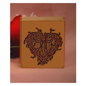 Heart Wreath Art Rubber Stamp