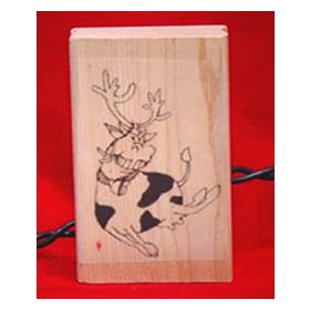 Cow Reindeer Craft Stamp