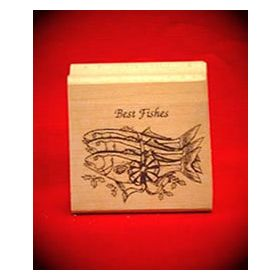 Best Fishes Art Rubber Stamp