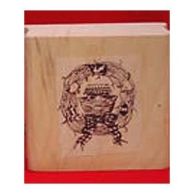 Large Ark in Wreath Art Rubber Stamp