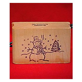 Snowman Art Rubber Stamp